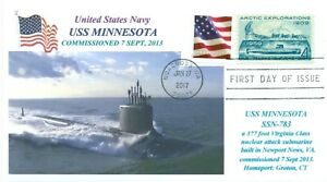 Uss-Minnesota-SSN-783-USN-Sottomarino-Colore-Foto-Cacheted-Primo-Day-Of-Issue-Pm