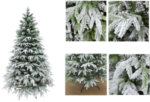 Artificial-Christmas-Tree-White-Snow-Covered-Xmas-Decorations-Decor-4ft-to-8ft