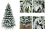 Artificial-Christmas-Tree-White-Snow-Covered-Xmas-Decorations-Decor-4ft-to-8ft Indexbild 1