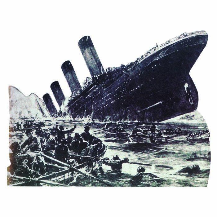 H27004 RMS TITANIC naufrage Cardboard Cutout Standup