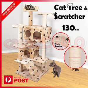 Cat-Scratching-Post-Tree-Gym-House-Climbing-Condo-Furniture-Scratcher-Pole-Toy