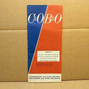 1969-Chesapeake-amp-Ohio-Railway-Baltimore-amp-Ohio-Railroad-Timetable-Vintage-RR