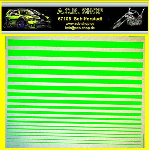 Rayas manicure leuchtgrün friezes segregados 1:43 decal estampados