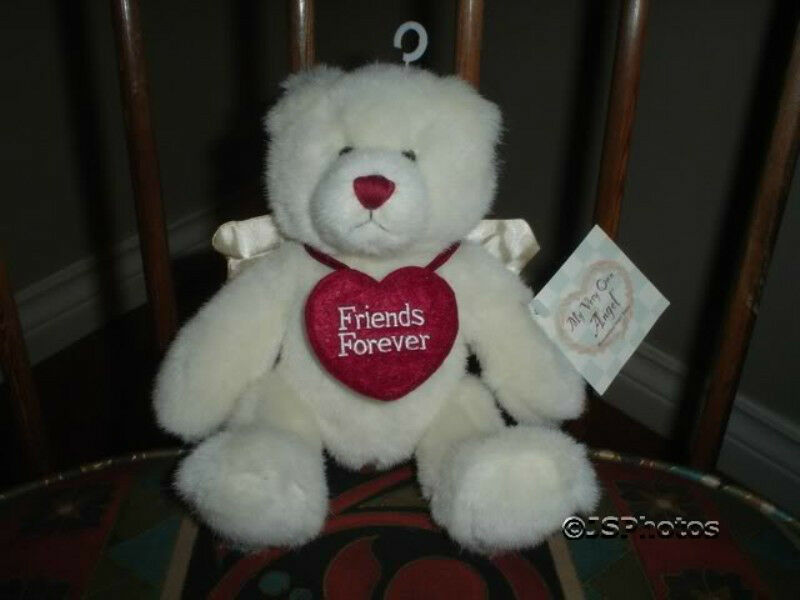 Ganz Angel Bear Friends Forever All Tags PB104 2001 Nuovo with Tags 9 inch