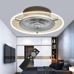 Ventilatore a Soffitto con Telecomando Luce Lampada a LED Dimmerabile camera da
