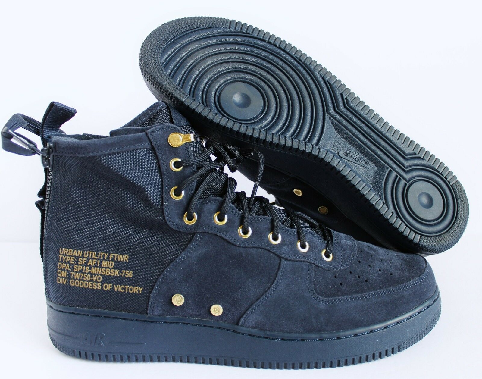 Nike SF AF1 Mid Special Field Air Force1 Obsidian-Black SZ 14 [917753-400]