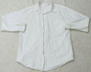 Izod-White-Dress-Shirt-Long-Sleeve-Man-039-s-Size-Medium-Cotton-Pocket-Top-Men-039-s