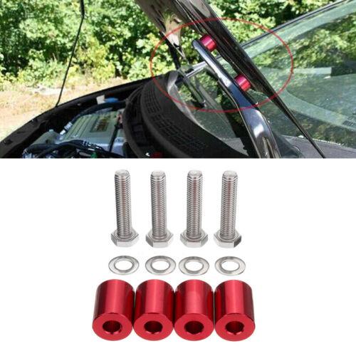 Universal 1/'/' Billet Hood Vent Spacer Riser Kit For Car Engine Turbo Engine Swap