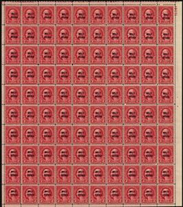 646-VF-Mint-NH-Full-Sheet-of-100-2-Stamps-Brookman-250-00-Stuart-Katz