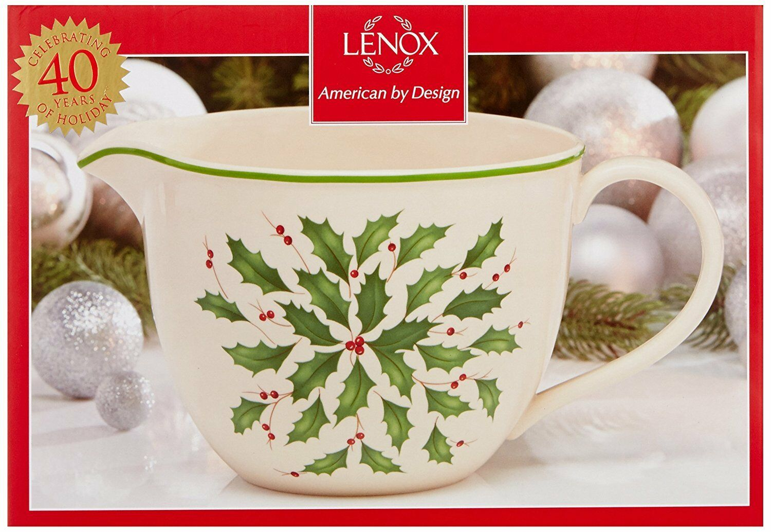 80 NEW in Box Lenox Holiday Large Batter Bowl 64 oz Perfect GIFT