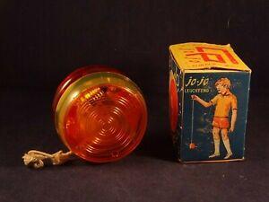 Ancien Jeu Jouet Enfant Yo-yo Jo-jo Lumineux Italy Boîte D'origine Années 60