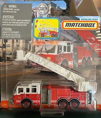 MATCHBOX WORKING RIGS PIERCE VELOCITY AERIAL PLATFORM FIRE TRUCK DIECAST TRUCK