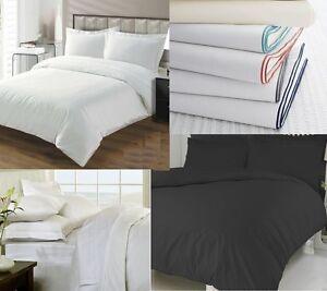 100 Egyptian Cotton Duvet Cover Pillowcase Single