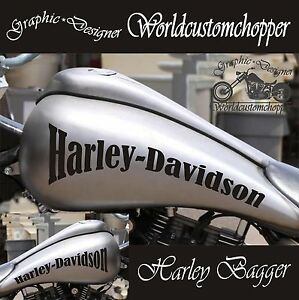 paar aufkleber bagger harley davidson von tank motorrad. Black Bedroom Furniture Sets. Home Design Ideas