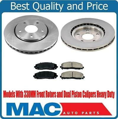 Front /& Rear Ceramic Pads For 12-16 Town /& Country Touring 330MM Dual Piston Cal