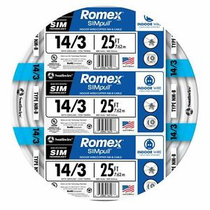 Romex 10//3 With Ground Electrical Wire 50ft coil NEW
