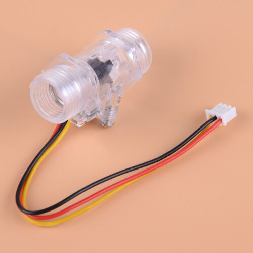 "G1//2/"" Water Flow Meter Hall Effect Sensor Switch Measuring Counter 1-30L//min"