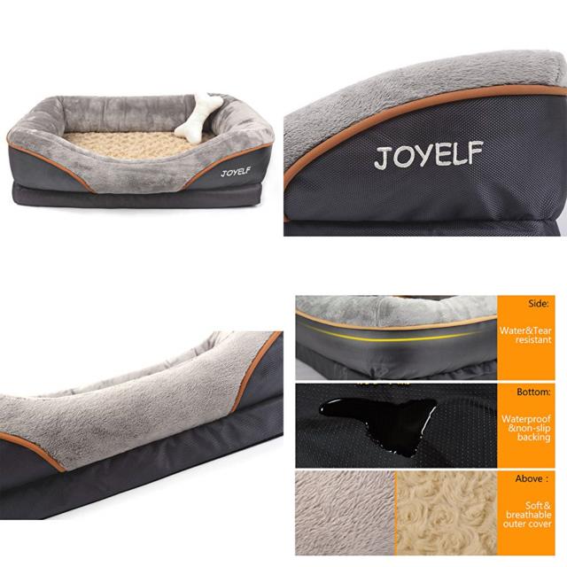 Joyelf Js0003 Orthopedic Dog Bed Memory Foam Washable Cover 38 Inch X 28 Inch For Sale Online Ebay
