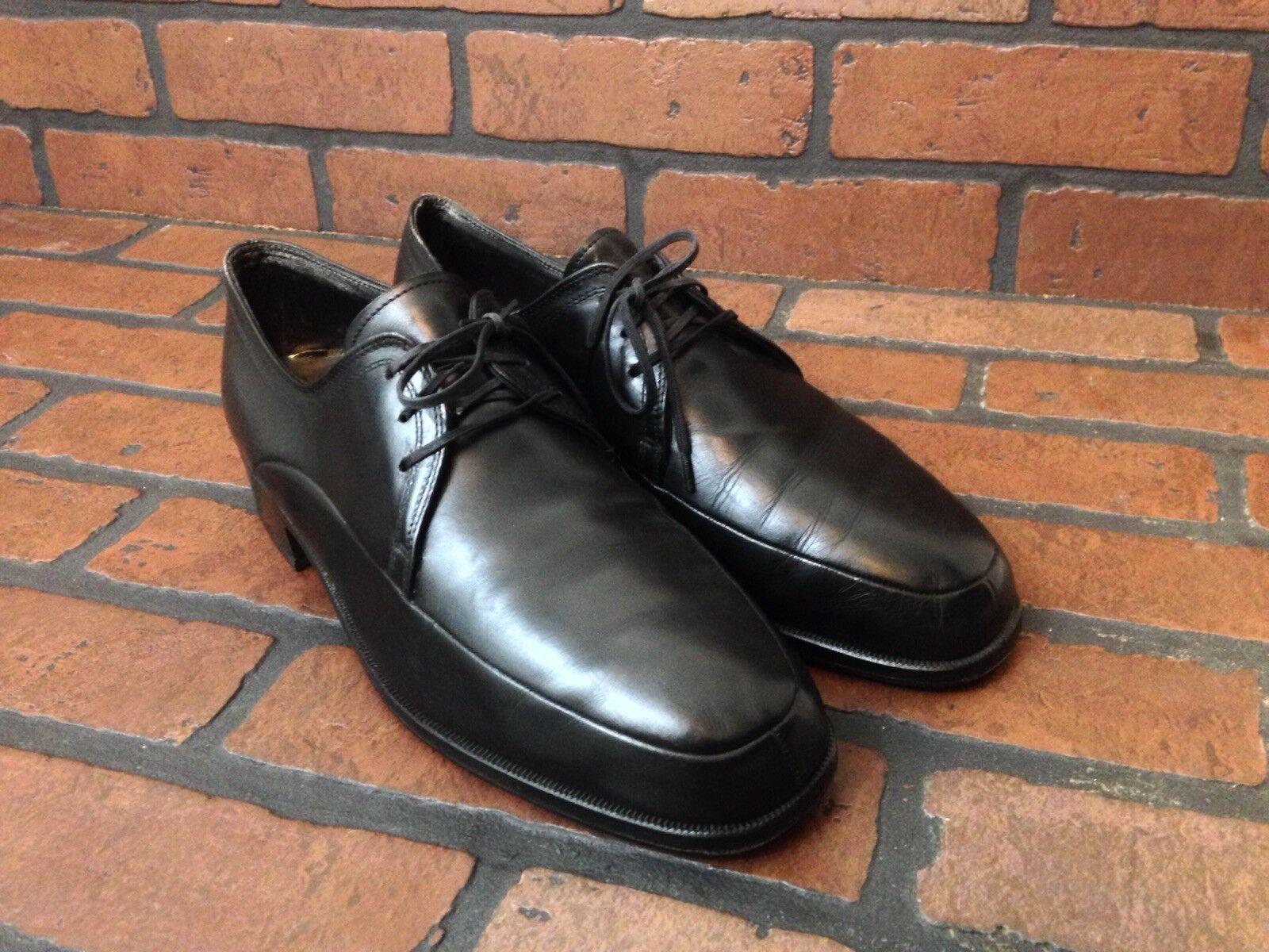 Bally Suisse Prestige nero Leather Oxford scarpe Dimensione 8