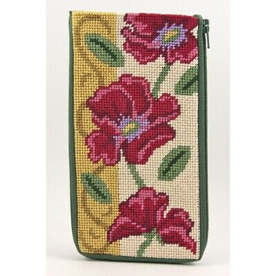Needle Point Eye Glass Case Stitch /& Zip  Kit   Choice Floral or Hearts