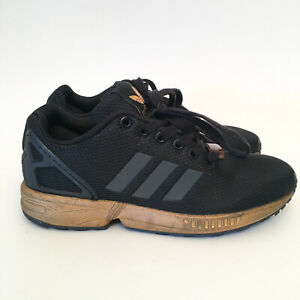 Adidas-ZX-Flux-Torsion-Womens-Shoes-Running-Trainers-Black-Gold-US-6-5-RARE