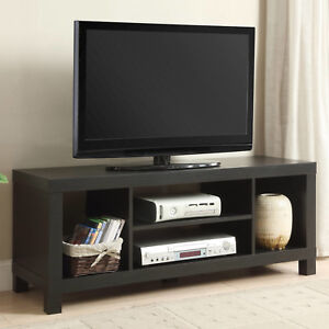 Flat Screen Tv Stand Black 42 Quot Tvs Modern Entertainment