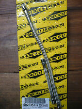 ROCKERBOX OIL LINE SET, BRAIDED, HARLEY DAVIDSON SHOVEL HEAD 1966-84