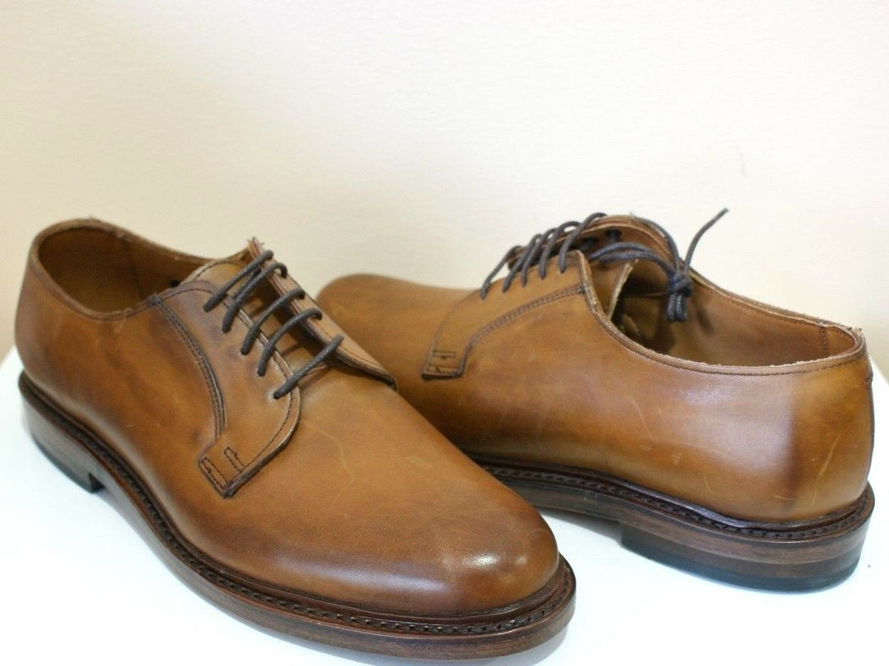 Allen Edmonds Leeds Walnut Leather Oxford Dress Shoes 8 NEW