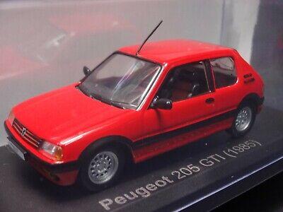 Vintage Peugeot 205 GTI Hatchback Die Cast Car Collectible Memorabilia Red Transportation MC Toys Distressed