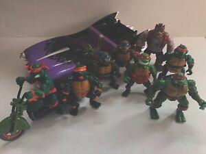 Teenage-Mutant-Ninja-Turtles-Lot-Mirage-Studios-Playmates-Toys-INCOMPLETE
