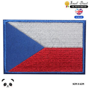 Czech-Republic-National-Flag-Embroidered-Iron-On-Sew-On-Patch-Badge-For-Clothes
