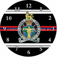ARMY LEGAL SERVICES GLASS WALL CLOCK