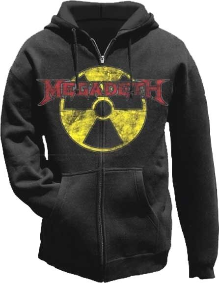 AUTHENTIC MEGADETH RADIOACTIVE HEAVY METAL MUSIC BAND ZIP HOODIE S M L XL 2XL