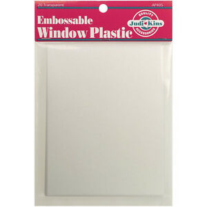 Judikins-Embossable-Window-Plastic-Acetate-20-Sheets-4-25-034-X5-5-034-AP405