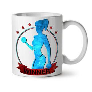 Winner Gym Fitness NEW White Tea Coffee Mug 11 oz   Wellcoda