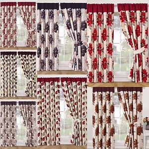 RING-TOP-PENCIL-PLEAT-STYLISH-READY-MADE-FULLY-LINED-CURTAINS-WITH-2-TIE-BACKS
