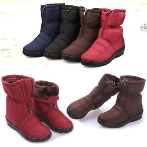 81e420731efc Women Winter Warm Thick Fleece Lined Snow Boots Waterproof Non-slip ...