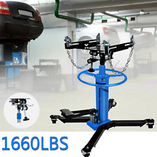 1660lbs 075ton 2stage Hydraulic Transmission Jack Stand Lifter Hoist Car Lift