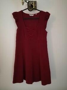 Robe Rouge Bordeaux Naf Naf 38 Ebay