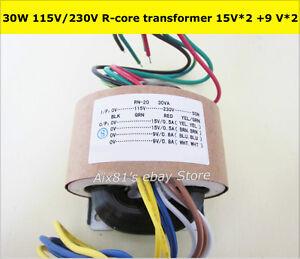115V-230V-30W-High-Quality-Audio-R-Core-Transformer-15V-15V-9V-9V-For-Preamp
