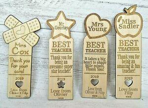 Personalised-Teacher-Bookmark-Gifts-Top-Teacher-Award-Thank-you-Pre-School-Nurse
