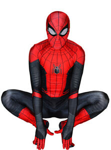 Newest-Far-From-Home-Spiderman-Costume-Halloween-Spider-Man-Cosplay-Bodysuit