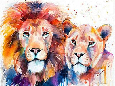 Diamond painting Cross Stitch Lion and Leopard Pattern Diamond Embroidery ZY011
