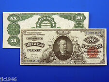 Reproduction $20 1891 Red Seal Silver Cert. Note US Paper Money Currency Copy
