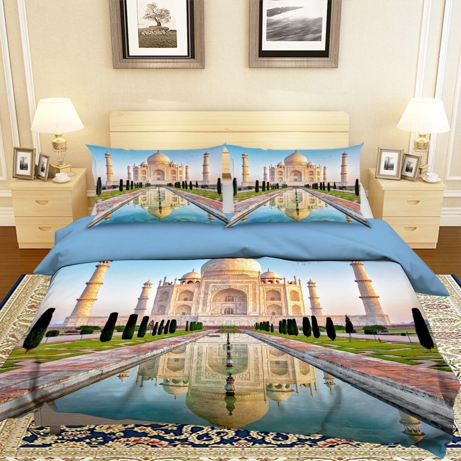 3d Taj Mahal paesaggio 56 LETTO FEDERE steppe duvet set soffitto Single de