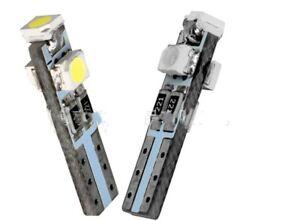 6-x-Bombillas-LED-T5-3528-1210-3SMD-Posicion-Bombilla-Blanco-SALPICADERO-puerta