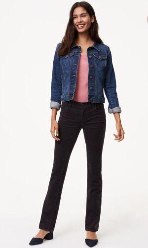 NWT Ann Taylor  LOFT Modern Boot Cut Corduroy Pants  $59.50 NEW Black