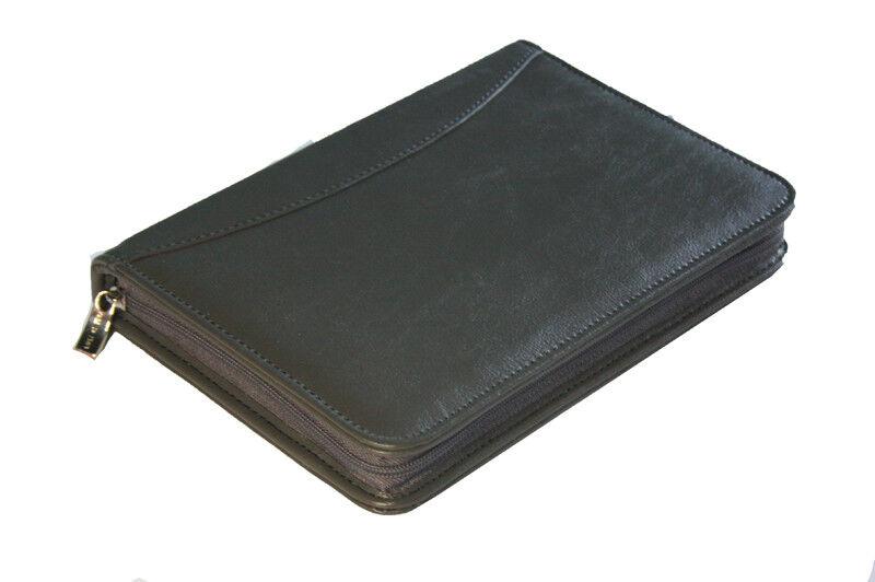 Leder Futteral für Arzt verschreibung, grau G-315S | Schöne Farbe  | Perfekt In Verarbeitung  | Stabile Qualität