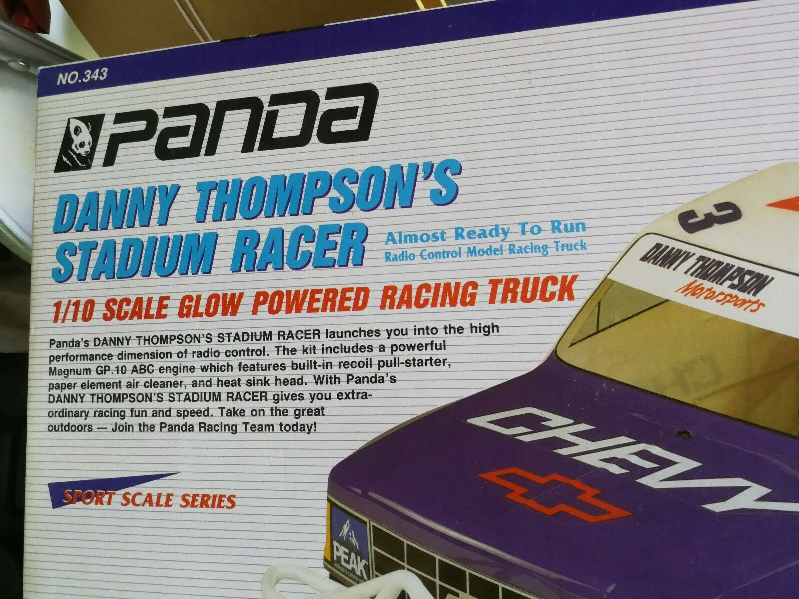 COCHE RADIO CONTROL GASOLINACoche radio control - Vintage PANDA Danny Thompson
