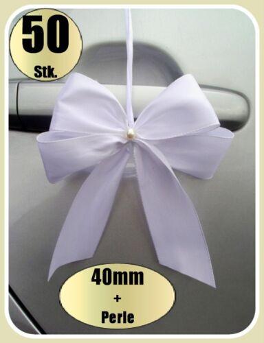 0,75€ Stk 50 Antennenschleifen Autoschleifen Spiegelschleifen Hochzeit